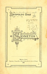 Sonetos by Díaz, Leopoldo, 1862-1947