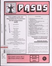 Pasos, Vol. 2. Época, No. 142 (Mar.-Abr... Volume Vol. 2. época, no. 142 (mar.-abr. 2009) by Departamento Ecuménico De Investigaciones (Costa ...