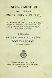 Nuevo Método De Operar En La Hernia Cru... by Gimbernat Arbós, Antonio, 1734-1816