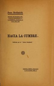 Hacia La Cumbre by Stefanich, Juan, 1889-
