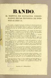 Bando. D. Manuel De Sarratea Gobernador ... by Buenos Aires (Argentina : Province). Governor (182...