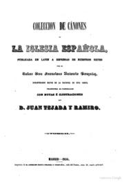 Colección De Cánones Y De Todos Los Conc... by Tejada
