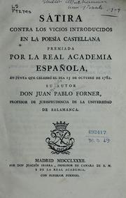 Sátira Contra Los Vicios Introducidos En... by Forner, Juan Bautista Pablo, 1756-1797