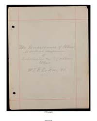 Yolsong Chijang, Score 10191170 by Du Bois, W. E. B. William Edward Burghardt