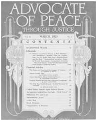 Advocate of Peace Through Justice : 1920... Volume Vol. 82 by Washington