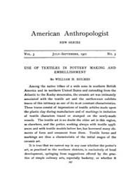 American Anthropologist : 1901 New Serie... Volume Vol. 3 by Chibnik, Michael