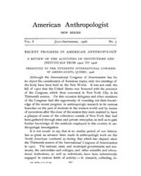 American Anthropologist : 1906 New Serie... Volume Vol. 8 by Chibnik, Michael