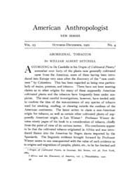 American Anthropologist : 1921 New Serie... Volume Vol. 23 by Chibnik, Michael