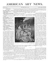 American Art News : 1905 Vol. 3 No. 80 J... Volume Vol. 3 by Esterow, Milton