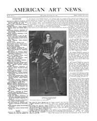 American Art News : 1905 Vol. 4 No. 8 De... Volume Vol. 4 by Esterow, Milton