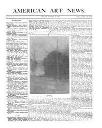 American Art News : 1905 Vol. 4 No. 9 De... Volume Vol. 4 by Esterow, Milton