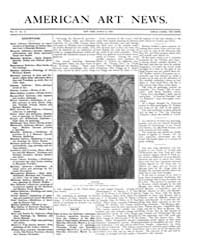 American Art News : 1906 Vol. 4 No. 21 M... Volume Vol. 4 by Esterow, Milton