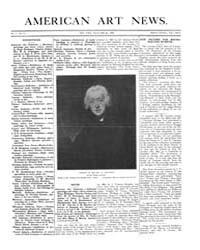 American Art News : 1906 Vol. 5 No. 11 D... Volume Vol. 5 by Esterow, Milton