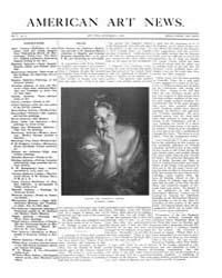 American Art News : 1906 Vol. 5 No. 3 No... Volume Vol. 5 by Esterow, Milton