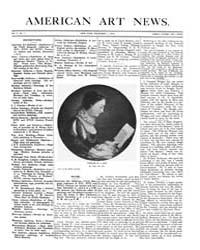 American Art News : 1906 Vol. 5 No. 7 De... Volume Vol. 5 by Esterow, Milton