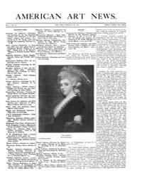 American Art News : 1907 Vol. 5 No. 19 F... Volume Vol. 5 by Esterow, Milton