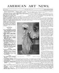 American Art News : 1907 Vol. 5 No. 31 J... Volume Vol. 5 by Esterow, Milton