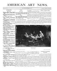 American Art News : 1907 Vol. 6 No. 11 D... Volume Vol. 6 by Esterow, Milton