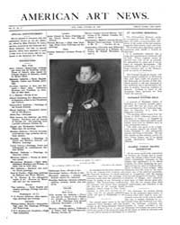 American Art News : 1907 Vol. 6 No. 2 Oc... Volume Vol. 6 by Esterow, Milton