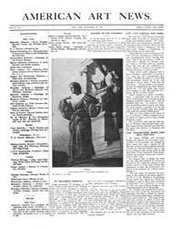American Art News : 1907 Vol. 6 No. 7 No... Volume Vol. 6 by Esterow, Milton
