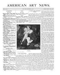 American Art News : 1907 Vol. 6 No. 9 De... Volume Vol. 6 by Esterow, Milton
