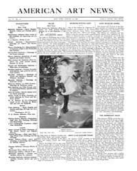American Art News : 1908 Vol. 6 No. 15 J... Volume Vol. 6 by Esterow, Milton