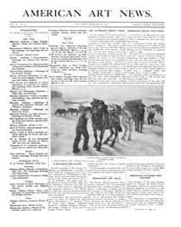 American Art News : 1908 Vol. 6 No. 20 F... Volume Vol. 6 by Esterow, Milton