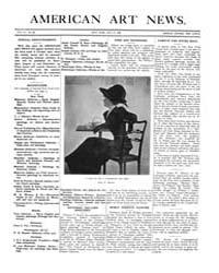 American Art News : 1908 Vol. 6 No. 32 J... Volume Vol. 6 by Esterow, Milton