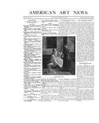 American Art News : 1908 Vol. 7 No. 10 D... Volume Vol. 7 by Esterow, Milton