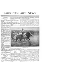 American Art News : 1909 Vol. 7 No. 13 J... Volume Vol. 7 by Esterow, Milton