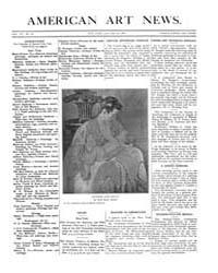 American Art News : 1909 Vol. 7 No. 16 J... Volume Vol. 7 by Esterow, Milton