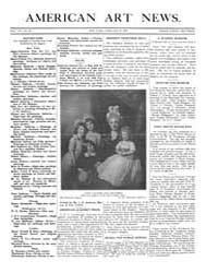 American Art News : 1909 Vol. 7 No. 20 F... Volume Vol. 7 by Esterow, Milton