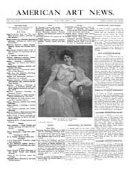 American Art News : 1909 Vol. 7 No. 25 A... Volume Vol. 7 by Esterow, Milton