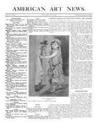 American Art News : 1909 Vol. 7 No. 30 M... Volume Vol. 7 by Esterow, Milton