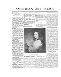 American Art News : 1909 Vol. 8 No. 11 D... Volume Vol. 8 by Esterow, Milton