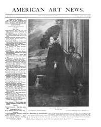American Art News : 1909 Vol. 8 No. 7 No... Volume Vol. 8 by Esterow, Milton