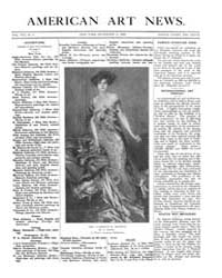 American Art News : 1909 Vol. 8 No. 9 De... Volume Vol. 8 by Esterow, Milton