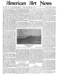 American Art News : 1920 Vol. 18 No. 17 ... Volume Vol. 18 by Esterow, Milton