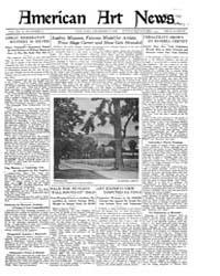 American Art News : 1921 Vol. 20 No. 10 ... Volume Vol. 20 by Esterow, Milton