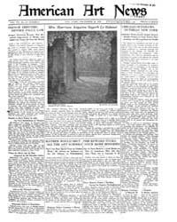 American Art News : 1921 Vol. 20 No. 11 ... Volume Vol. 20 by Esterow, Milton