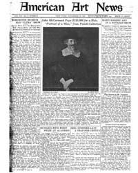 American Art News : 1921 Vol. 20 No. 5 N... Volume Vol. 20 by Esterow, Milton