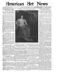 American Art News : 1921 Vol. 20 No. 8 D... Volume Vol. 20 by Esterow, Milton