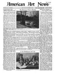 American Art News : 1922 Vol. 21 No. 5 N... Volume Vol. 21 by Esterow, Milton