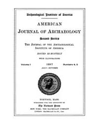 American Journal of Archaeology : 1897 V... Volume Vol. 1 by Norman, Naomi, J.