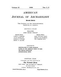 American Journal of Archaeology : 1898 V... Volume Vol. 2 by Norman, Naomi, J.
