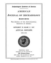 American Journal of Archaeology : 1901 V... Volume Vol. 5 by Norman, Naomi, J.