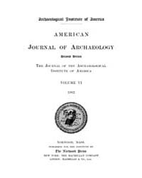 American Journal of Archaeology : 1902 V... Volume Vol. 6 by Norman, Naomi, J.