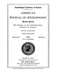 American Journal of Archaeology : 1903 V... Volume Vol. 7 by Norman, Naomi, J.