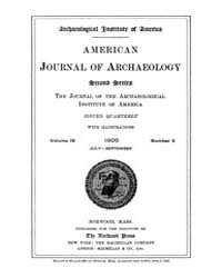 American Journal of Archaeology : 1905 V... Volume Vol. 9 by Norman, Naomi, J.