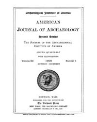 American Journal of Archaeology : 1908 V... Volume Vol. 12 by Norman, Naomi, J.